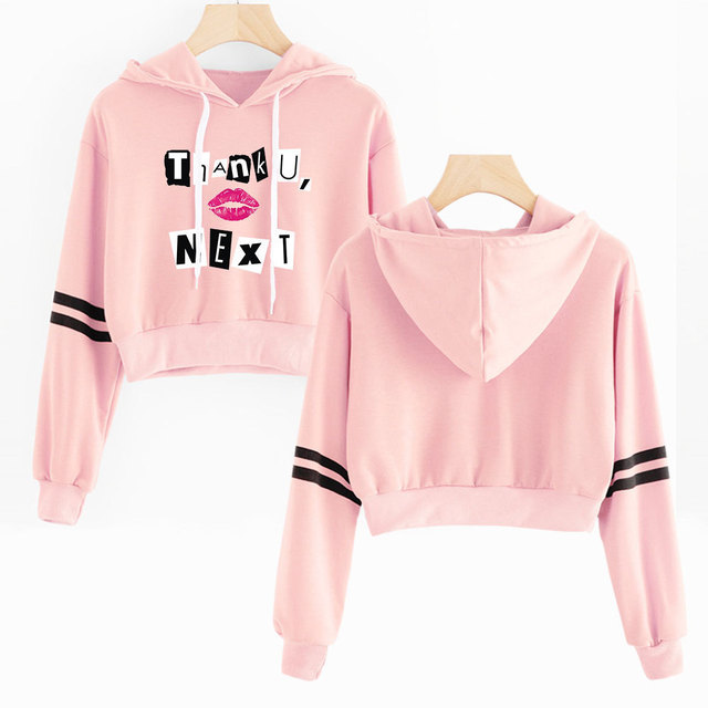 ARIANA GRANDE THEMED CROP TOP HOODIE (24 VARIAN)