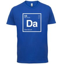 DAVID Periodic Element - Mens T-Shirt Geeky / Chemistry 13 Colours Mans Unique Cotton Short Sleeves O-Neck T Shirt