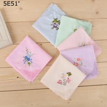 Women embroidered handkerchief cotton 100%/ 28cm/Many Uses