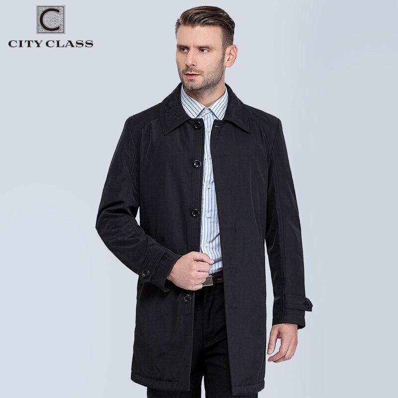 VILLE CLASSE Nouveau Hommes Automne Manteaux De Mode Casual Classique Trenchs Fit Turn-down Collar Vestes Manteaux Livraison Gratuite Pour mâle 1061-1