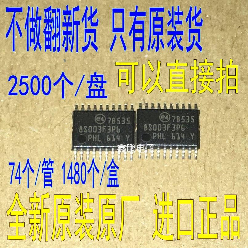 100 pcs/lot nouveau STM8S003F3P6 8S003F3P6 TSSOP-20 16 MHz 8 bits MCU, 8 Kbytes Flash, 128 octets données EEPROM, 10 bits ADC IC