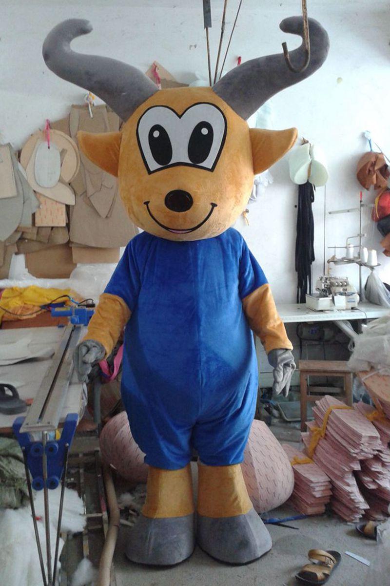 Le mouton mascotte Costume chèvre mascotte Costume déguisement Halloween Cosplay Costume