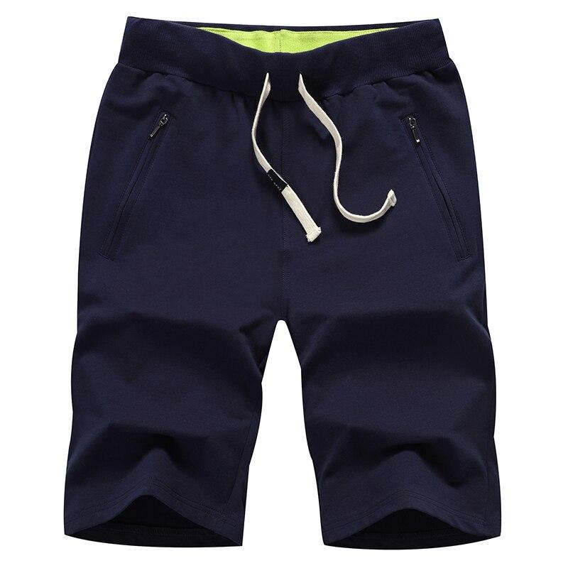 2018 Summer Pure Color Mens Lace-up Shorts Black Green Blue Grey Size S M L XL 4XL 5XL Zipper Control Pocket Loose Cool Comfort