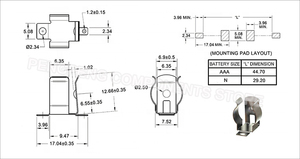 Image 3 - 5 יח\חבילה SMT SMD החלפה של Keystone 55 AAA סוללה קליפ, AAA סוללה מחזיק, AAA סוללה קשר