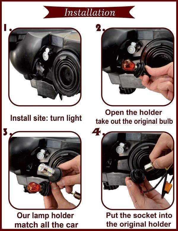 Tcart 2 шт. T20 7440 WY21W для ДРЛ фары дневного света Поворотная сигнальная лампа для Lexus GS300 2006-2008