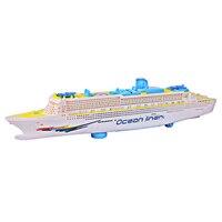 Music Ship Model Electric Flashing Sound Cruises Electric Universal Music Light Ocean Liner Children Boat