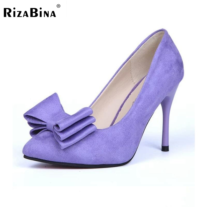 RizaBina size 34-39 women thin high heel shoes pointed toe bowknot court footwear ladies party  heeled pumps heels shoes WD0261 rear lower suspension arm for losi 5ive t ql 5t rc losb0019 1 5 gas truck rovan lt km x2 ddt mini wrc 59007
