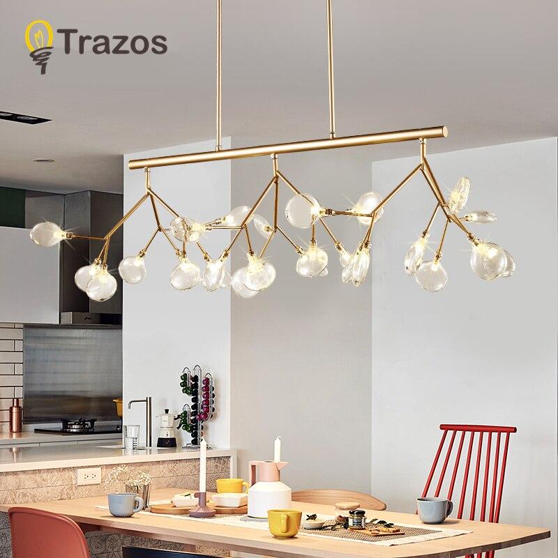 LED Moderne Lustres Lampe Pour Salon Chambre Lamparas Colgantes Nordique Lustre Luminaire Luminaires Industriels