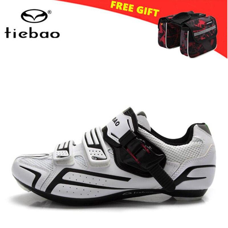TIEBAO Road Cycling font b Shoes b font 2018 Ultralight Self Locking Pro font b Men