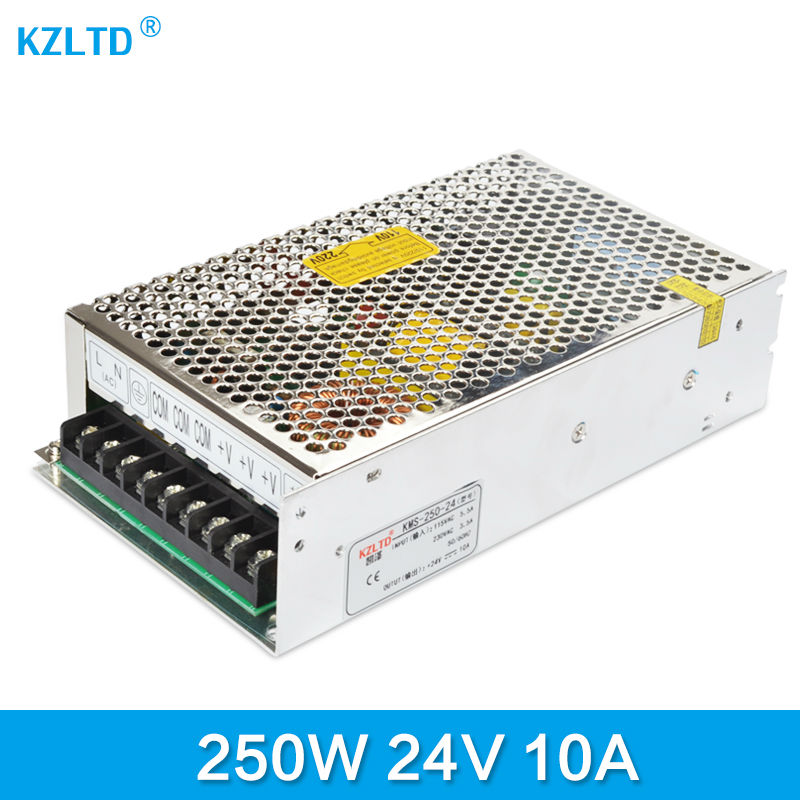 LED Driver 24V 250W Variable Power Supply DC24V LED Converter 220V 110V to 24V Transformer for LED Module Light CCTV Monitor 90w led driver dc40v 2 7a high power led driver for flood light street light ip65 constant current drive power supply