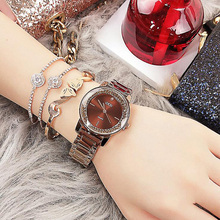 Luxury Crystal Dial Qaurtz Ladies Watch Fashion Lovers' Watches Creative Women Watches Bracelet  Relogio Feminino Dropshipping