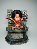 One Piece Ace Prison Portgas D Ace Luffy Sabo Fire Fist 16cm PVC Action Figure Toy Collection Model Gift