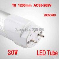 4PCS Lot LED Tube T8 1200mm 20W AC85 265V 4ft Lamp 2835SMD LED Light BulbsTube Cold