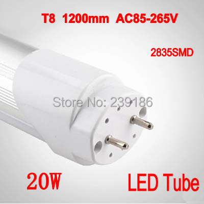 4PCS/Lot LED Tube T8 1200mm 20W AC85-265V 4ft Lamp 2835SMD LED Light Tube Cold White/Warm White 2016 integrated led tube light t5 900mm 3ft led lamp epistar smd 2835 11watt ac110 240v 72leds 1350lm 25pcs lot