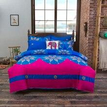 Богемный 3d одеяла постельные принадлежности Мандала постельное белье зима простыня наволочки королева король размер постельное белье