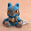 "5pcs/lot Anime Cartoon Pokemon Lucario Plush Toy 7""18CM Pocket Monster Stuffed Animals Plush Doll Kids Gift Free Shipping"