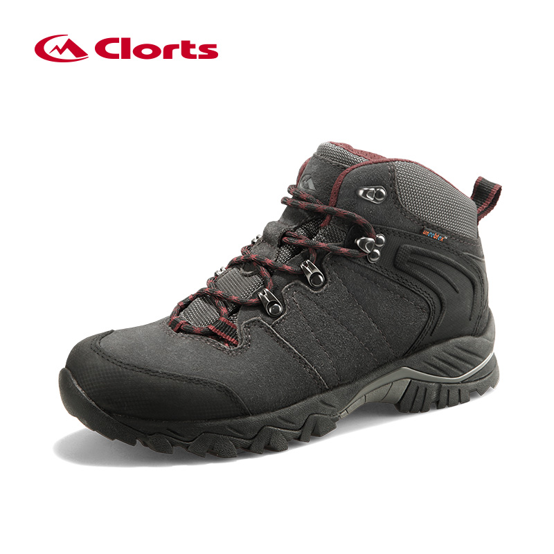Clorts Hiking Boots Outdoor Climbing Boots Waterproof Cow Suede Hunting Boots Non-slip Winter Sneakers Hiking Shoes HKM-822A/G outdoor hunting shoes for men waterproof winter sneakers men increased internal non slip hunting camping shoes hiking boots
