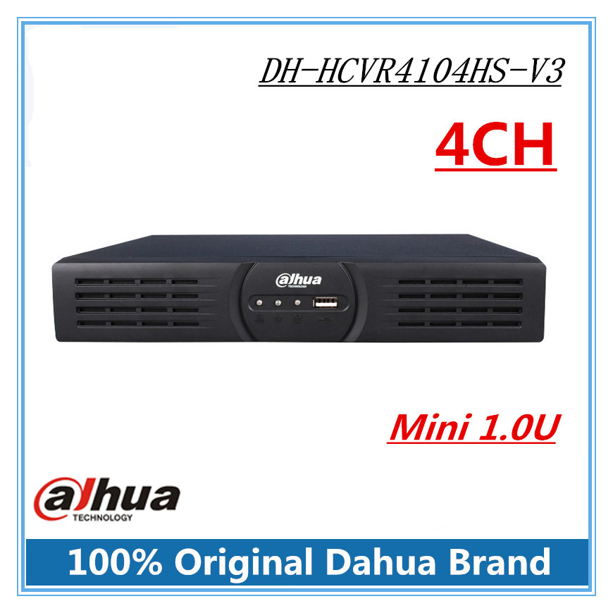Dahua DH-HCVR4104HS-V3 4ch HCVR H.264 1080P HDCVI Video Recorder Tribrid HDCVI&Analog&IP 1.0U DVR supports P2P and 4T Hard Disk ikonbit tv hunter analog recorder u55