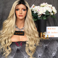 8A Grade 200% High Density Human Hair Wigs Ombre 1b/613 Full Lace Human Hair Wigs Blonde Body Wave Lace Front Human Hair Wigs