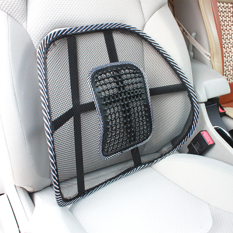 Black Mesh Lumbar Back Brace Support Office Home Car Seat