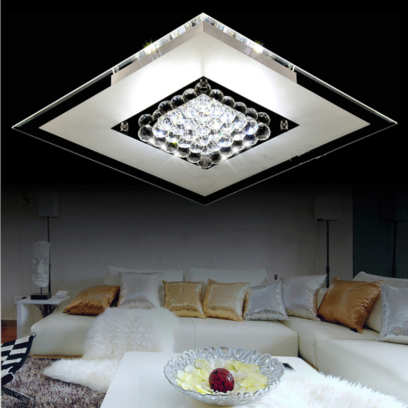 Led Light Fixture Keeps Going Out: Art Deco K9 Crystal Flush Mount Ceiling Light Fixture With