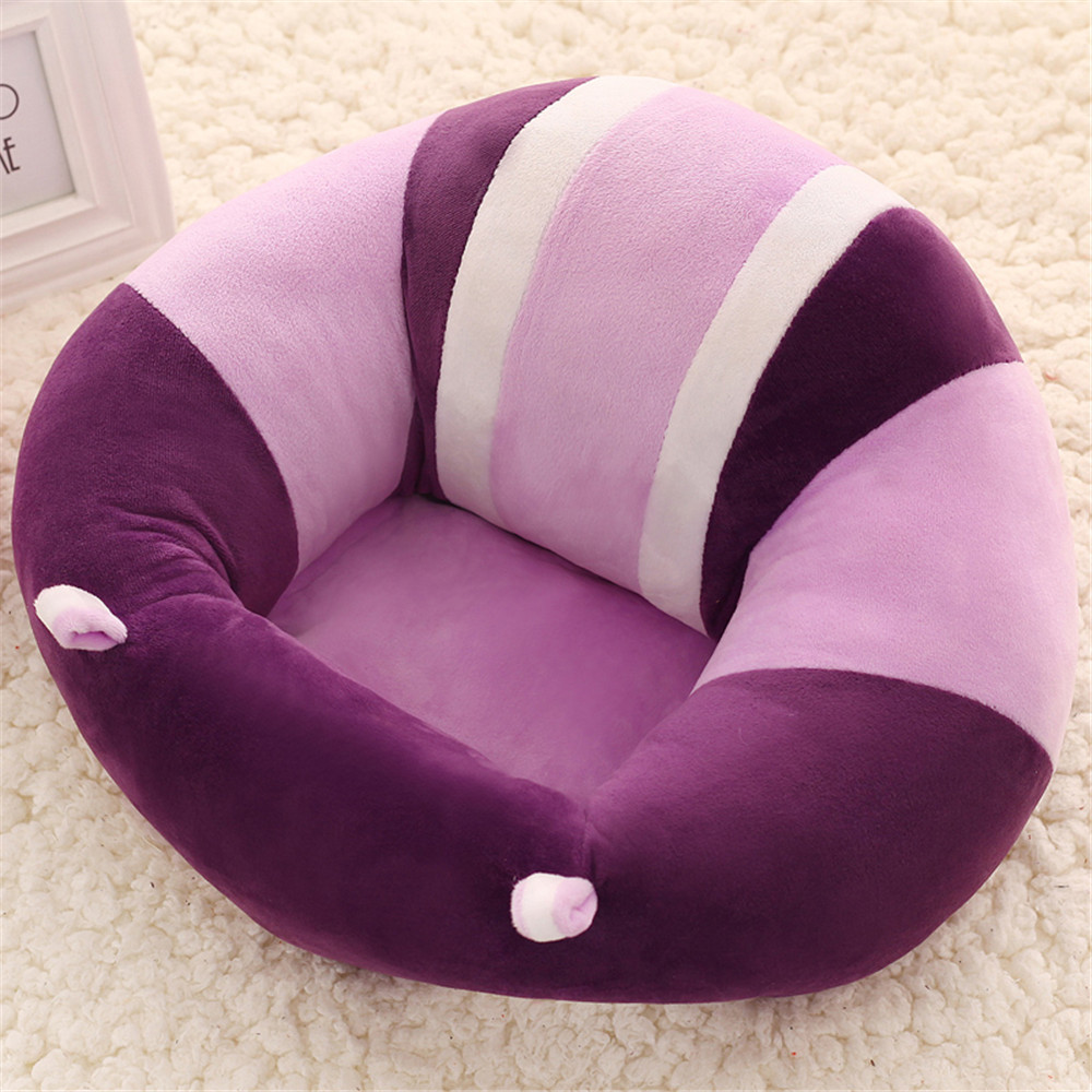 Baby Sofa,Baby Support Seat Sofa Plush And PP Cotton Animal Pillow Protector Cushion Sitting Sofa For 0-2 Year Old Kids 45*40CM