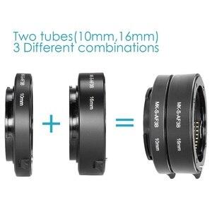 Image 4 - Meike automatyczne ustawianie ostrości pierścienie pośrednie makro pierścień dla Sony E do montażu na A6300 A6500 A6000 A7 A7II A7III A7SII NEX 7 NEX 6 NEX5R NEX 3N NEX 5