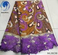 BEAUTIFICAL ankara lace fabric wax prints lace fabric 2019 guipure lace with wax ankara prints free shipping ML38C07 19