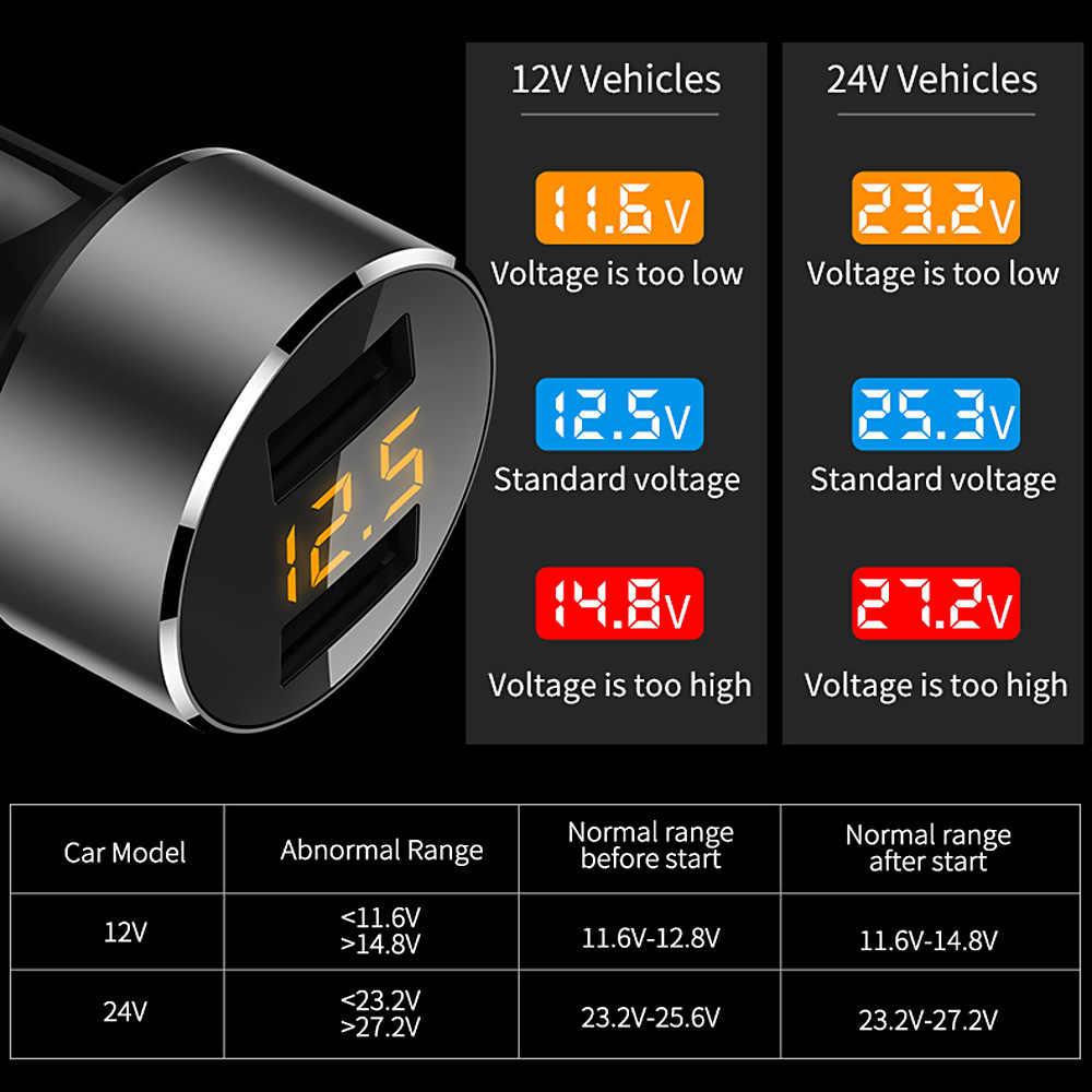 FLOVEME 18W cargador de coche USB para iPhone Xiaomi cargador de coche de doble puerto cargador USB 3.6A cargador de coche de carga rápida para teléfono móvil