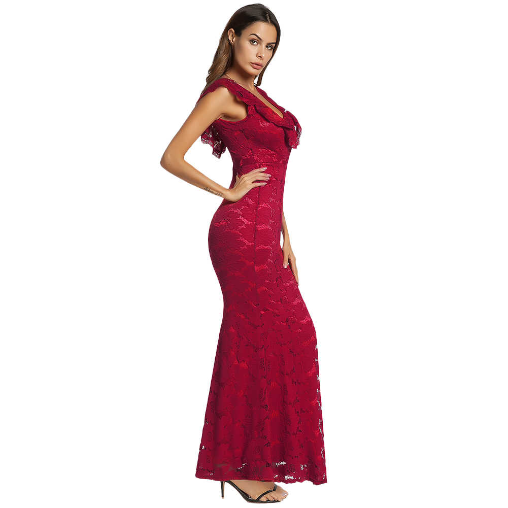 02203e6623eb Detail Feedback Questions about Women Floral Lace Dress Maxi Gowns ...