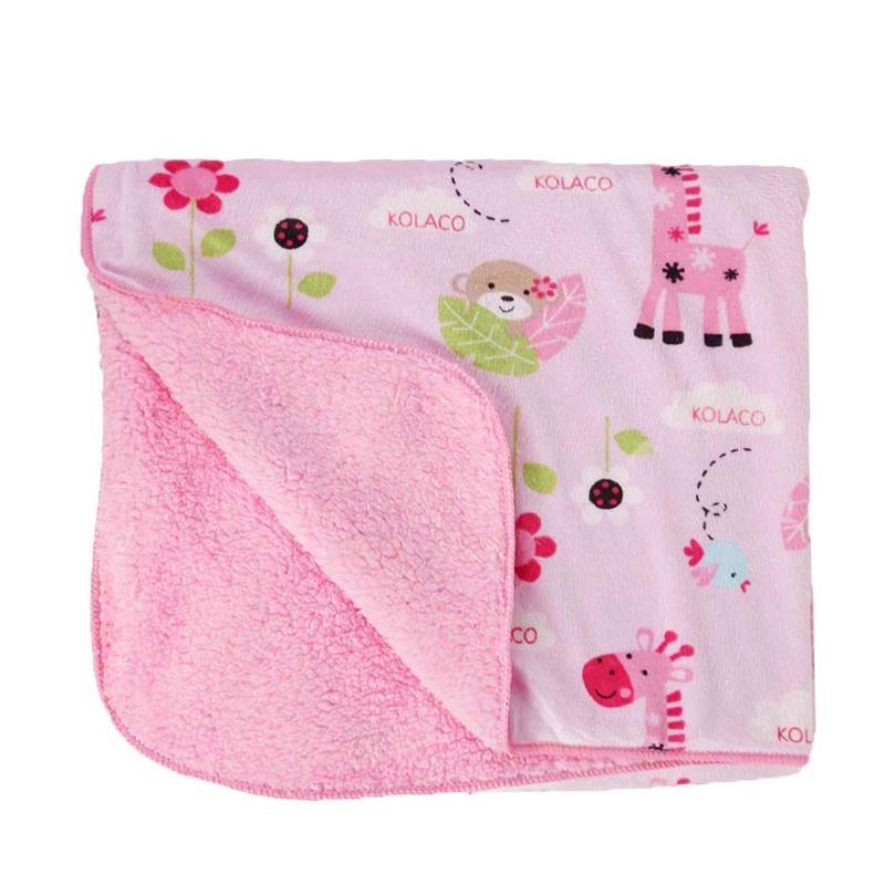 Baby Blanket Cartoon Animal Print Thicken Baby Stroller Blanket Newborn Swaddling Double Layer Bedding цена
