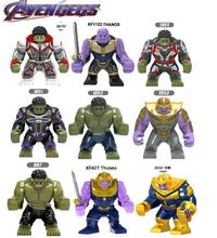 купить Building Blocks Movie 4 Endgame Big Size Models Hulk Korg Thanos Collection Action Bricks Figure For Children Gift Toys по цене 162.83 рублей