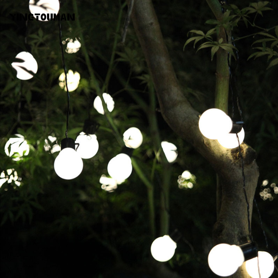 YINGTOUMAN Christmas Plugs Waterproof String Lights Ball Type Lamp Garden Decorationsfor ...