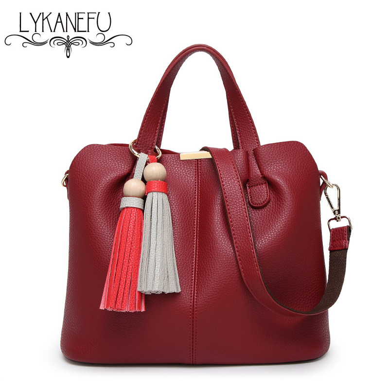 ФОТО LYKANEFU European and American Style Artificial PU Leather Women Hnadbag Hobo Shoulder Bag Tote Purse Brand Designer Handbags