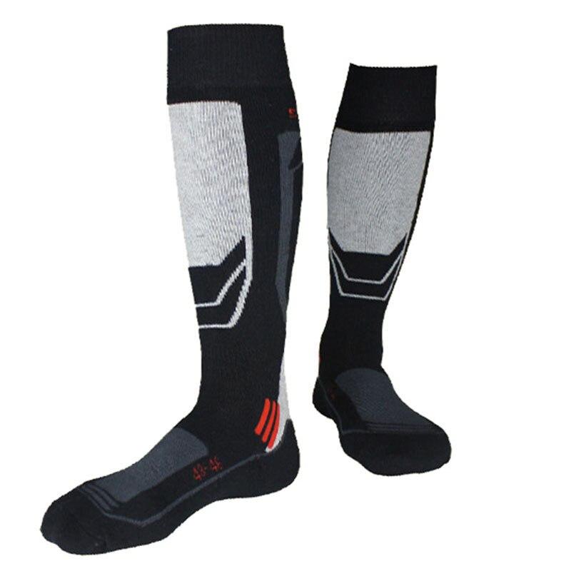 Теплые зимние лыжные Носки для девочек Для мужчин до колена Термальность толстые хлопчатобумажные спортивные Гетры для девочек сноуборд В...