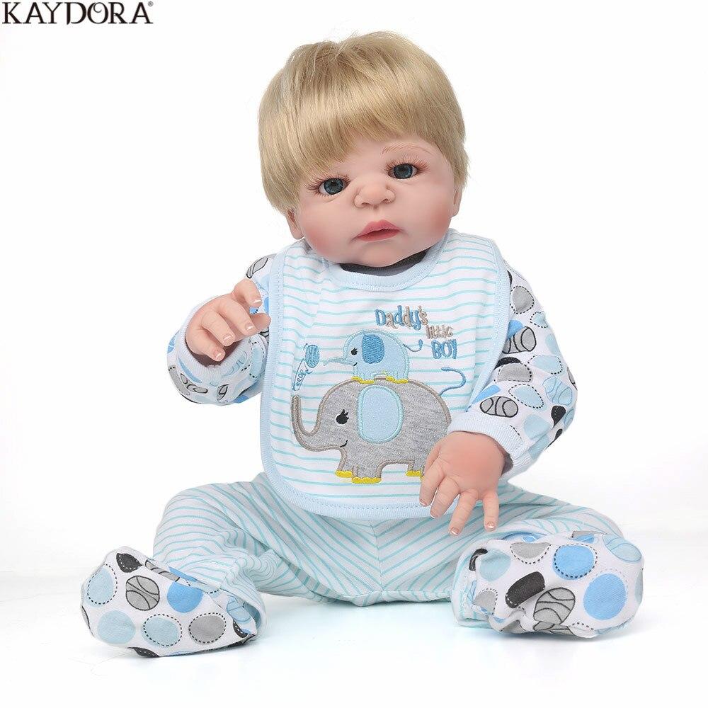 KAYDORA Reborn poupée Silicone complet corps 55 cm bambin jouets Silicone Reborn bébés vrais jouets Edcational vinyle poupée Bebe Reborn
