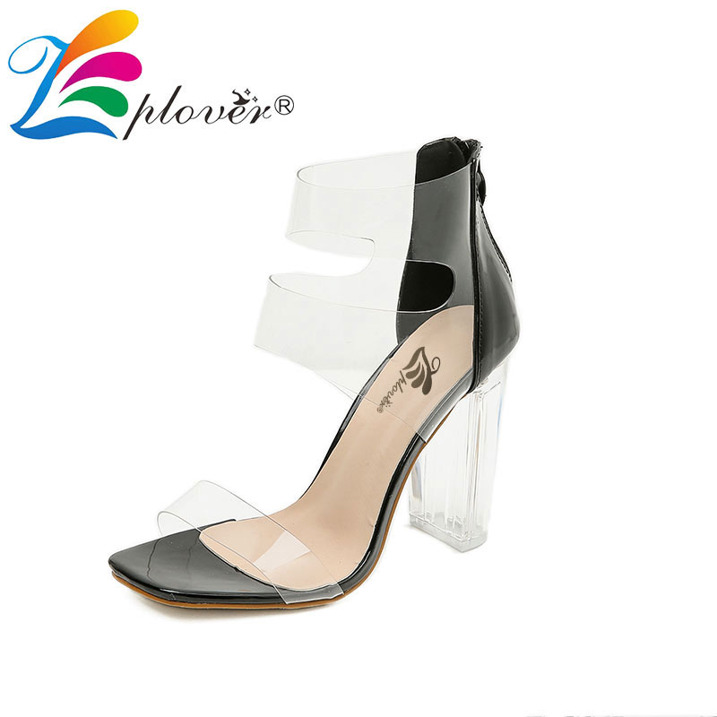 Summer Women Sandals Transparent High Heels Shoes Woman Peep Toe Sandalias Fashion Sexy Clear Heels Party Ladies Shoes Black bigtree summer fashion women high heels sandals suede shallow mouth pointed pearl ladies sandals sexy wedding red woman shoes