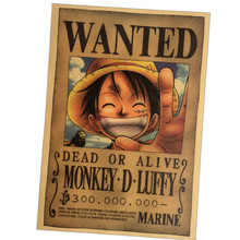 One Piece Luffy Wanted Poster 51x 35.5cm
