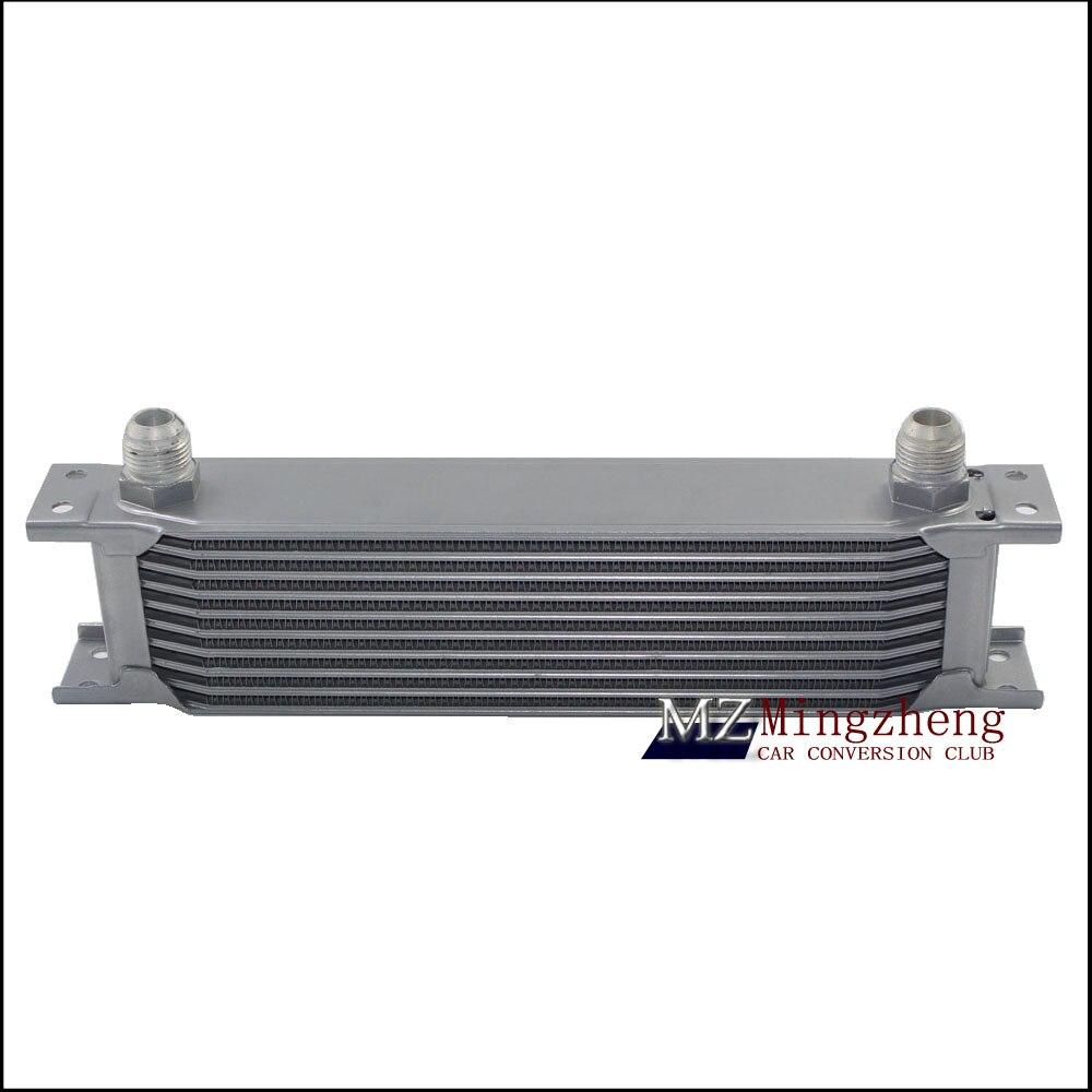 Kit de refroidisseur d'huile de course de moteur d'adaptateur de Thermostat pour l'argent de voiture/camion (7Row 10Row 13Row 16 Row 19Row)