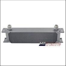 Adaptador termostato Motor Racing Oil Cooler Kit Para O CARRO/CAMINHÃO de Prata (7Row 13Row 10Row 16 Row 19Row)