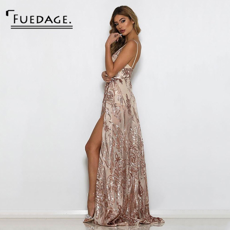 Fuedage Summer Autumn Women Elegant Dress New Sexy Halter Sequin Dresses  Vintage Party Casual Ladies Dresses Plus Size Vestidos-in Dresses from  Women s ... 52e12b7bdee2
