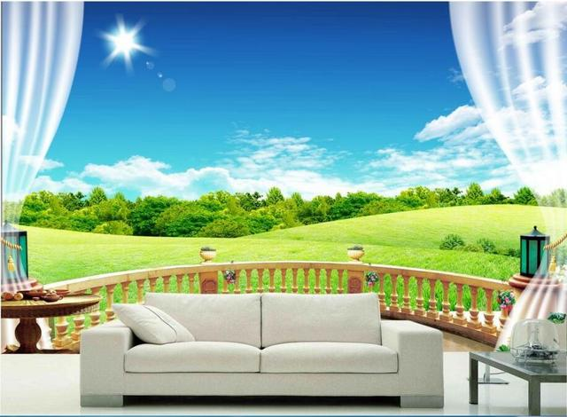 Custom photo 3d wallpaper Non woven mural The scenery outside the