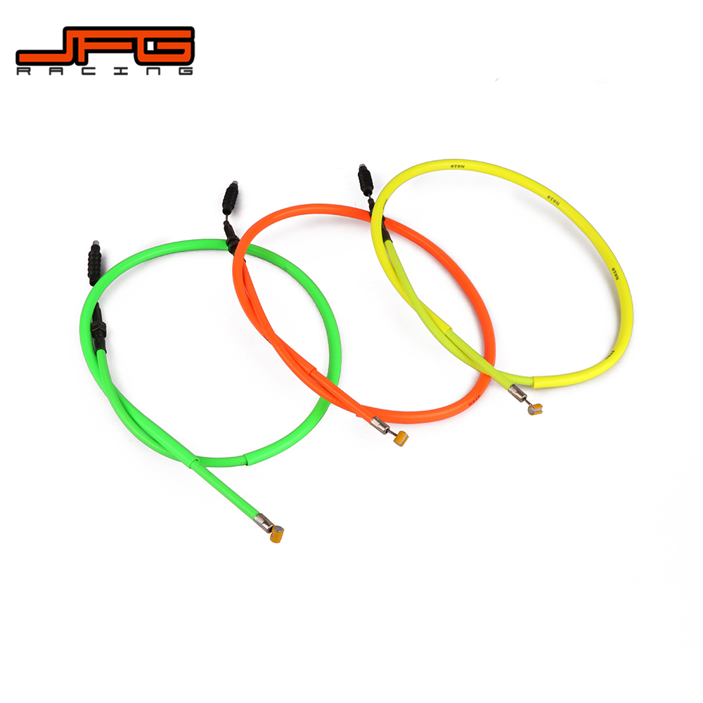 Motorcycle Green & Orange & Yellow Clutch Cable Line For ZONGSHEN NC250 Bosuer KAYO Xmotor Apollo