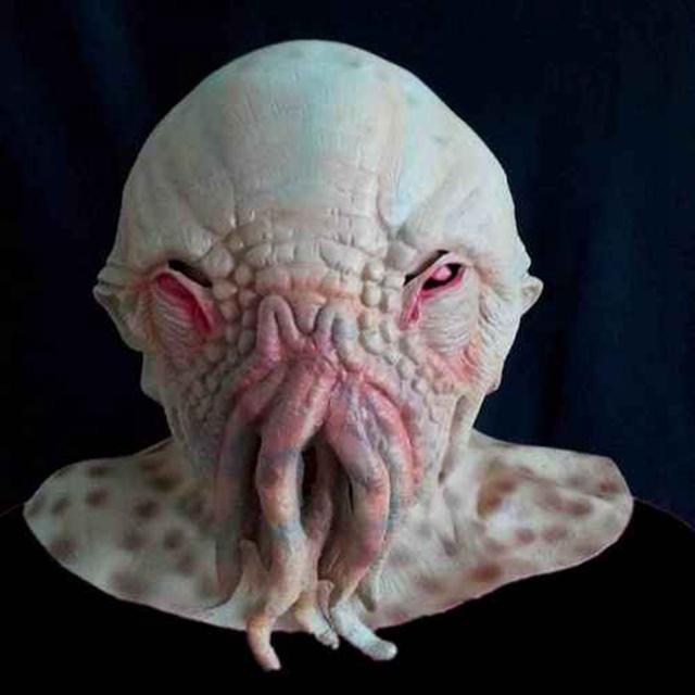 Venta caliente Pulpo Máscara de Halloween Horror Latex Partido Cosplay Personaje de la Película de Doctor Who Ood Máscara Animal de la Fiesta de navidad Regalo de Juguetes