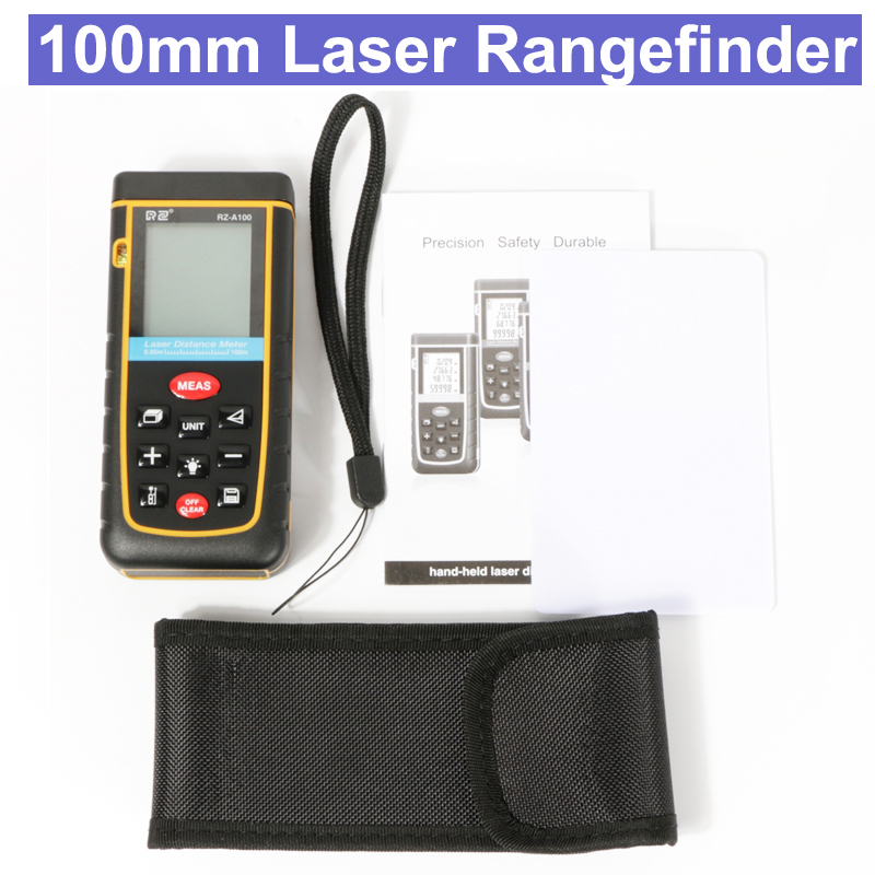 RZ 100m Laser Rangefinder Digital Laser Distance Meter battery-powered laser range finder tape distance measurer tool цена