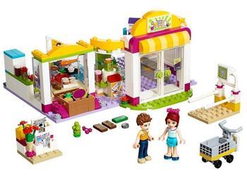цена на 10494 Girls Friends Heartlake Supermarket Building Blocks DIY Educational Bricks toys Gift for children