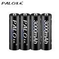 4 unids pilas AA baterías recargables 3000 V AA 1,2 mAh Ni-MH batería recargable precargada 2A Baterias para cámara con caja