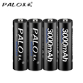 4Pcs AA Battery Rechargeable Batteries 1.2V AA 3000mAh Ni-MH Pre-charged Rechargeable Battery 2A Baterias for Camera With A Case