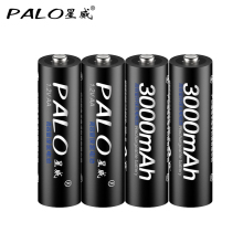 4pcs 2a AA Battery Batteries 1 2V AA 3000mAh Ni MH Pre charged Rechargeable Battery 2A
