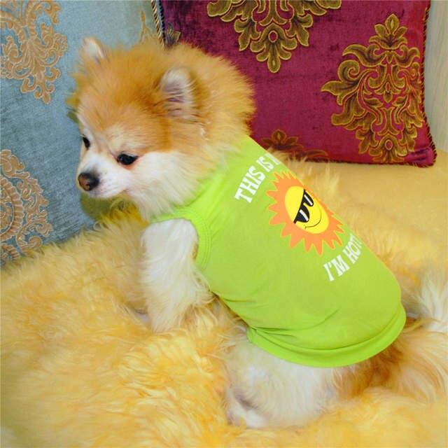 Online Shop Summer Pet Puppy Summer Lollipop Shirt Small Dog Cat Pet